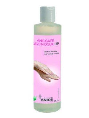 Aniosafe savon doux HF - Le flacon pissette de 250 ml.