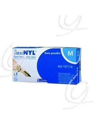 Gants d'examen vinyle Flexynil - Taille 7/8 medium.