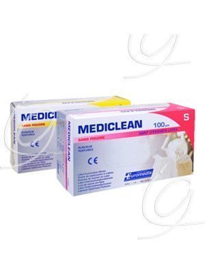 Gants latex Mediclean - Taille 6/7 small.
