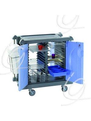 Chariot modulable - Coloris bleu.