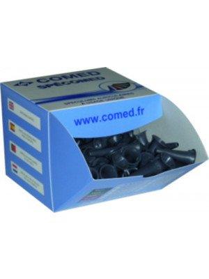 Spéculums auriculaires - La boîte de 250 spéculums noirs Ø 2,5 mm.