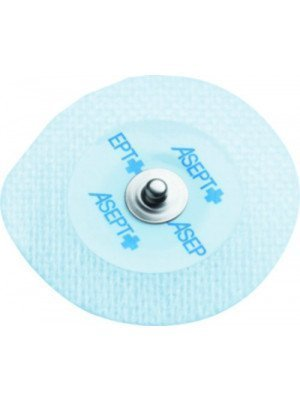 Electrodes prégélifiées textile contact métal - Dim. 50 x 48 mm.