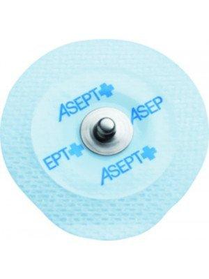 Electrodes prégélifiées textile contact métal - Dim. 45 x 42 mm.