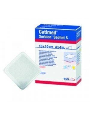 Pansement superabsorbant hydro-actif Cutimed® Sorbion® - La boîte de 10, dim. 10 x 10 cm, sachet S.