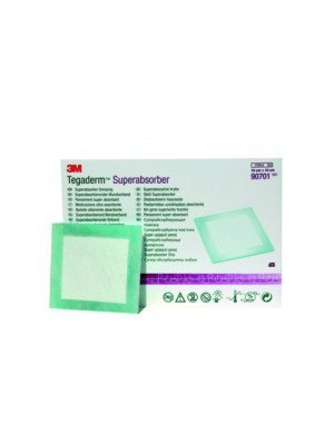 Pansement super absorbant 3M™ Tegaderm™ Superabsorber* - Dim. 10 x 10 cm.